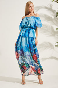 Anabel Maxi Silk Dress