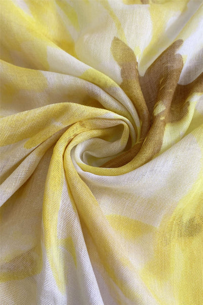 "X Summer Floral-Yellow""Floral scarves"""