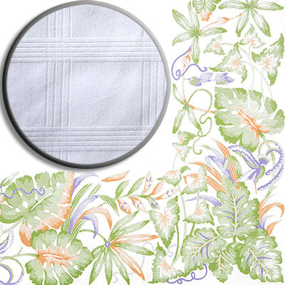 "Cotton Tablecloth "" TROPICAL PARADISE """