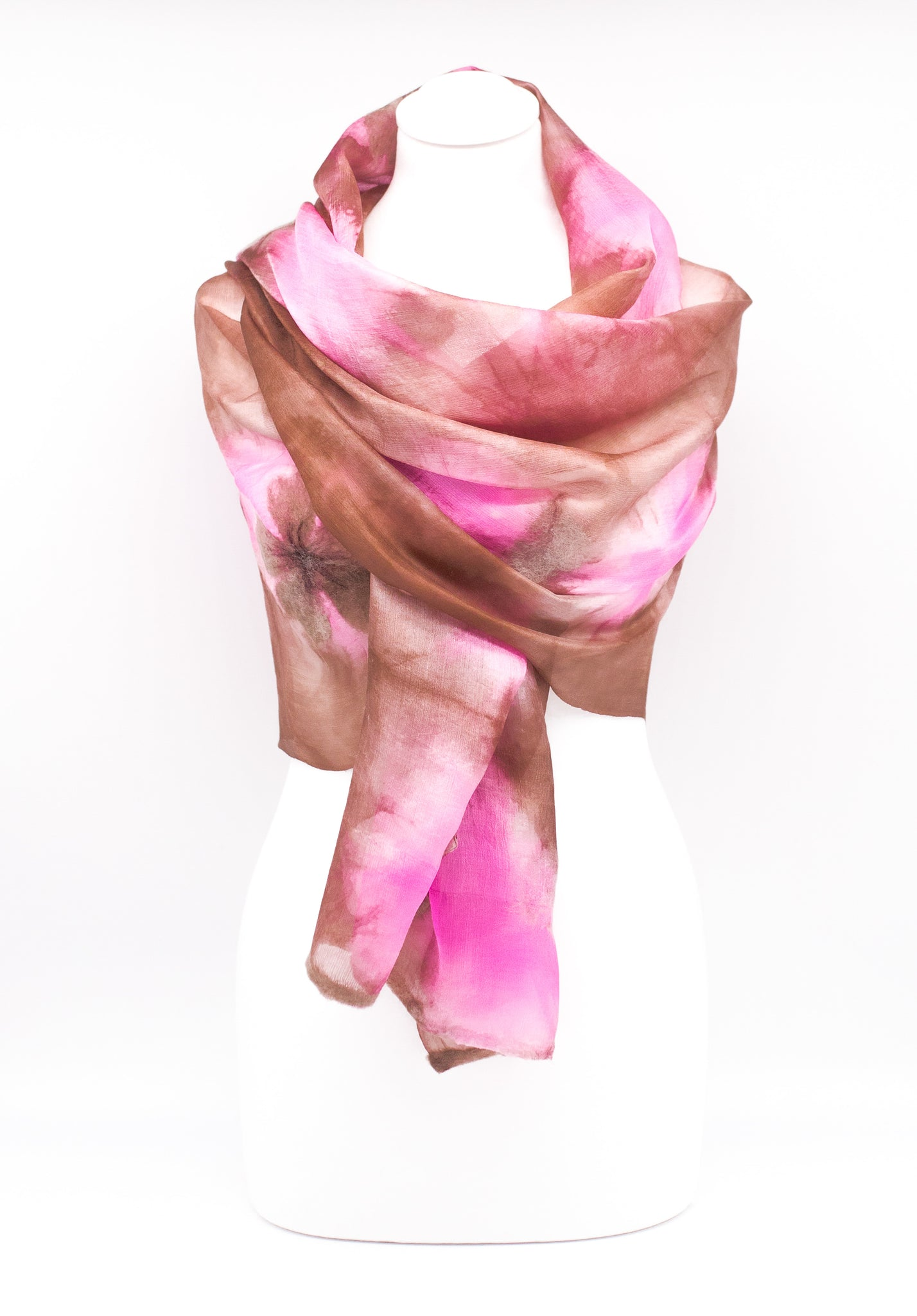 "Unique "" LAYLA"" Handmade Daily Silk Scarf"