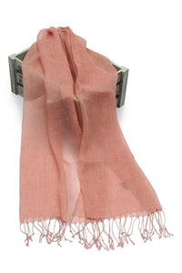 Versatile Classic Dusty Pink Linen Scarf