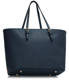 Navy Zip Detail Butterfly Bag