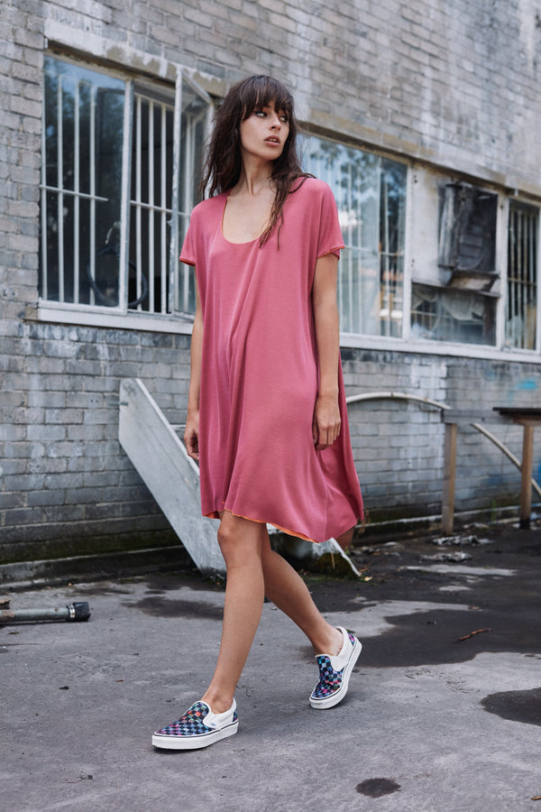 Saturn layered tencel jersey mini dress
