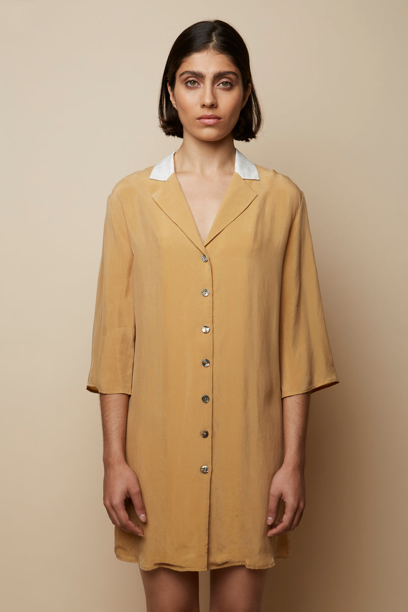 Valeria Beige Tunic Dress