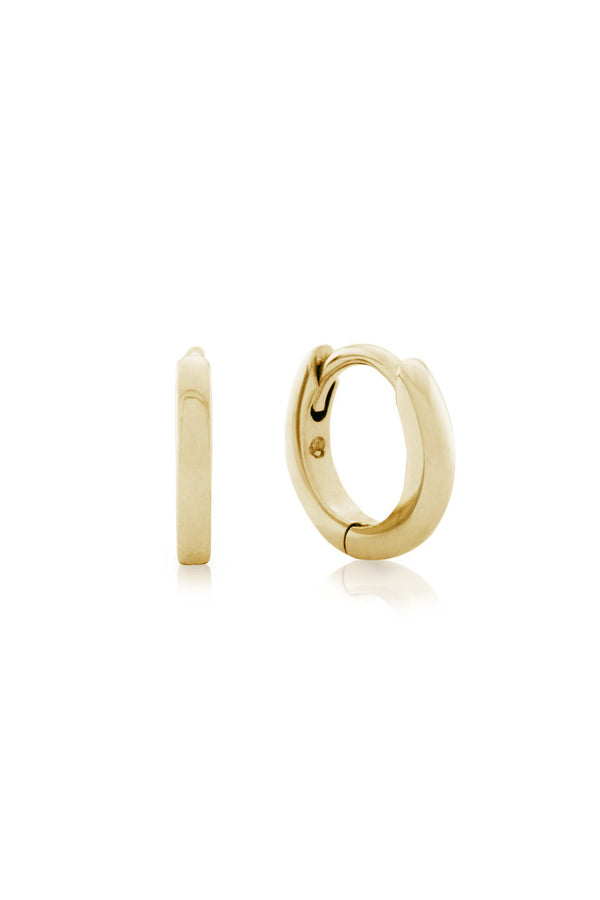 Anna Mini Huggie Hoop, Solid 9k Yellow Gold