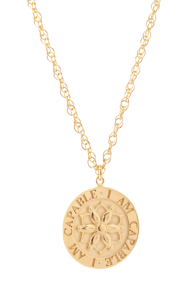 Capable - Gold Confidence Necklace