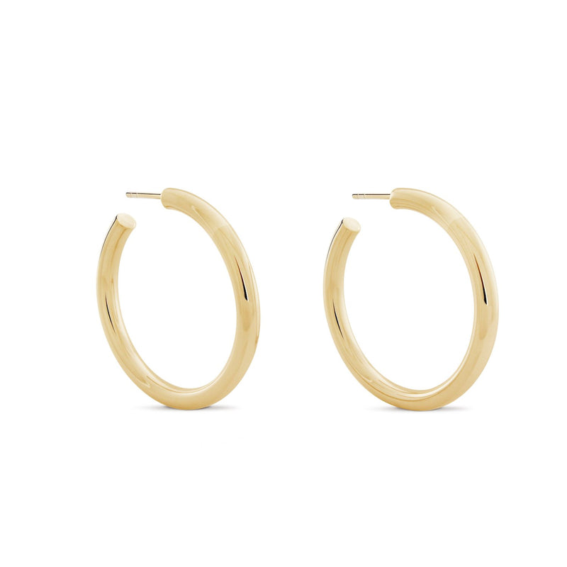 Chubbies Hoops. Gold Vermeil