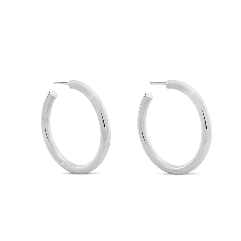Chubbies Hoops. Sterling Silver