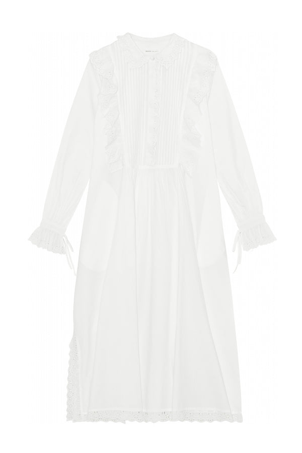 Daisy Shirt Dress - White