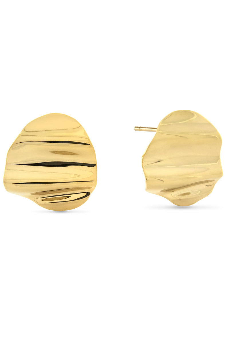 L'Eau Earrings. Gold Vermeil