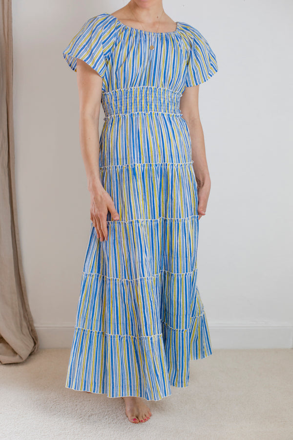 Summer Stripe Rah Rah Dress