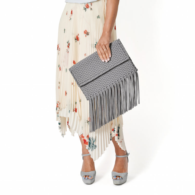 Grey Holi Clutch