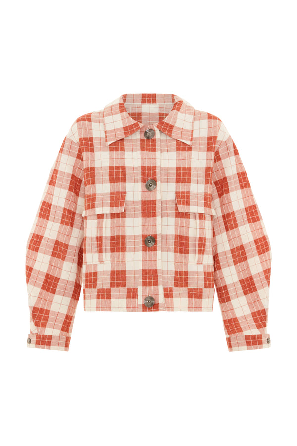 Hazel Jacket Orange Check