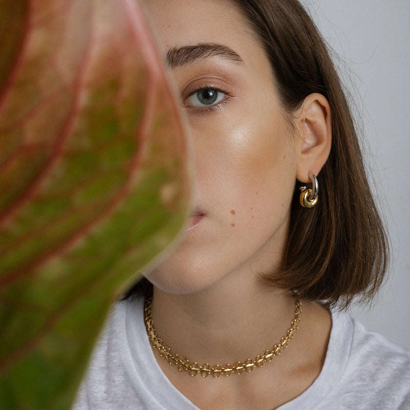 Hermione Hoop Earrings, Gold Vermeil.