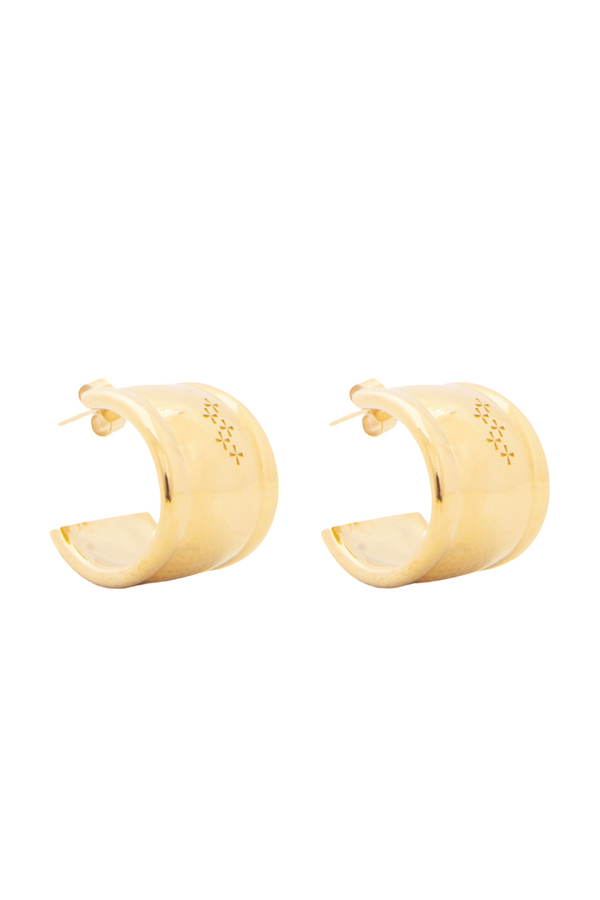 Star-Crossed - Gold Confidence Hoops