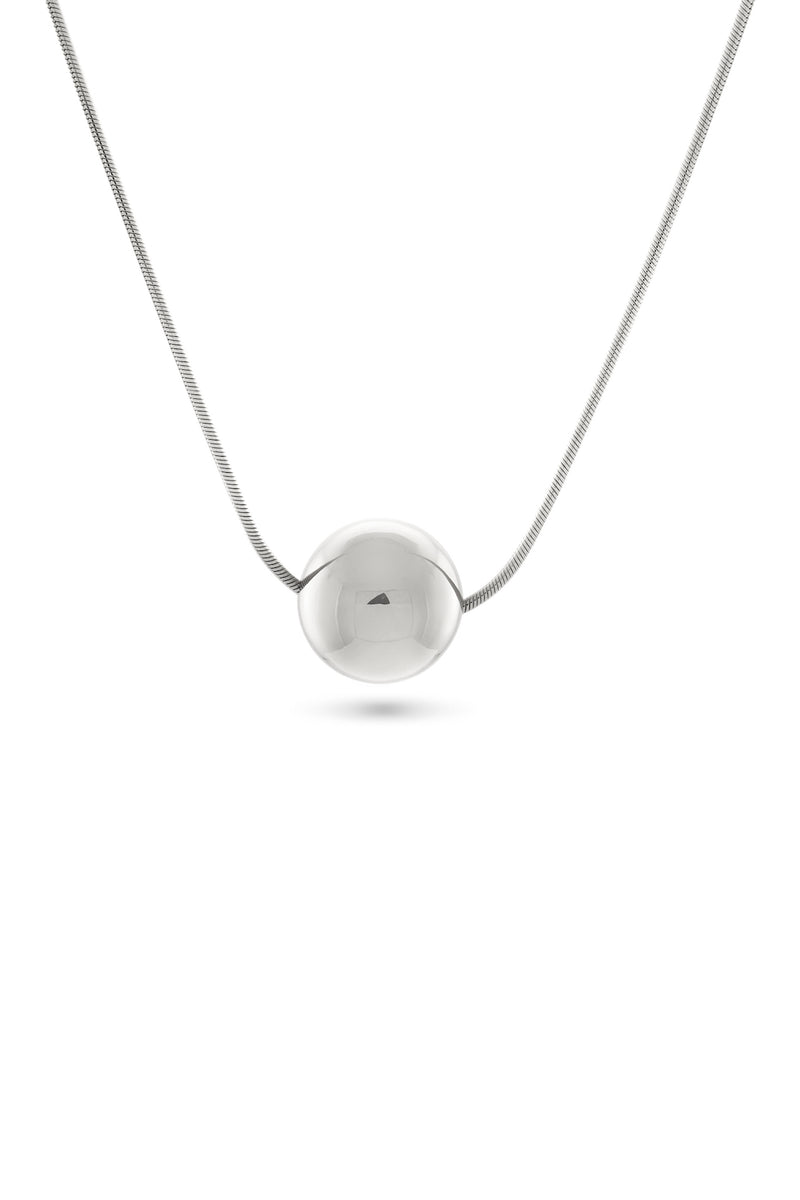 Josephine Orb Necklace, Sterling Silver