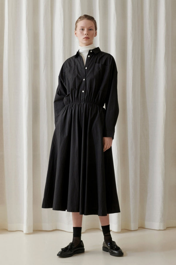 Karen Shirt Dress - Black