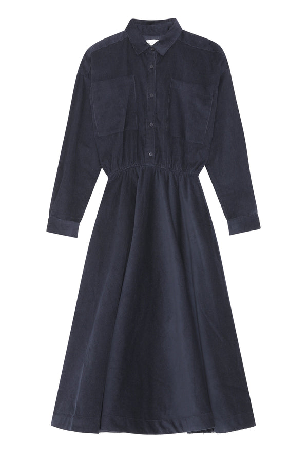 Karen Shirt Dress - Navy
