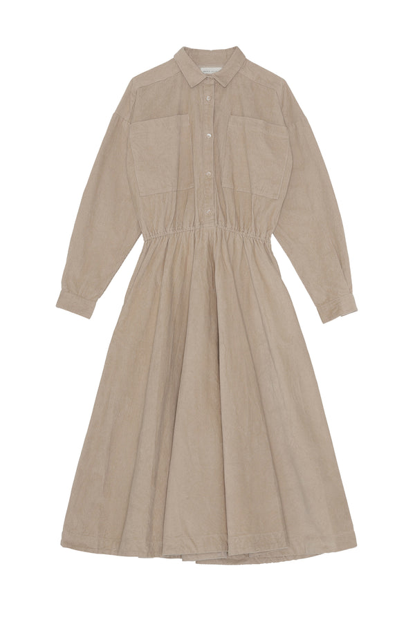 Karen Shirt Dress - Warm Grey