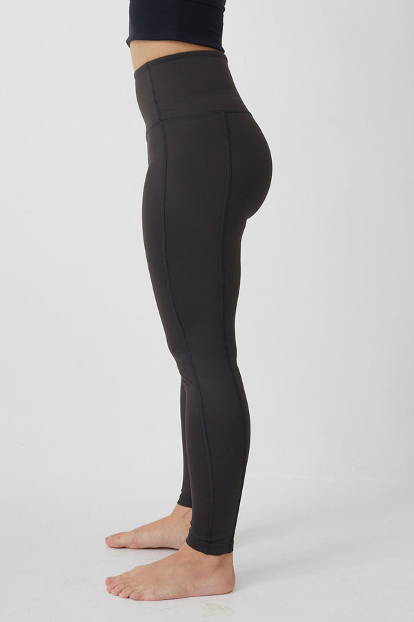 New High Waist legging in Liquorice 7/8