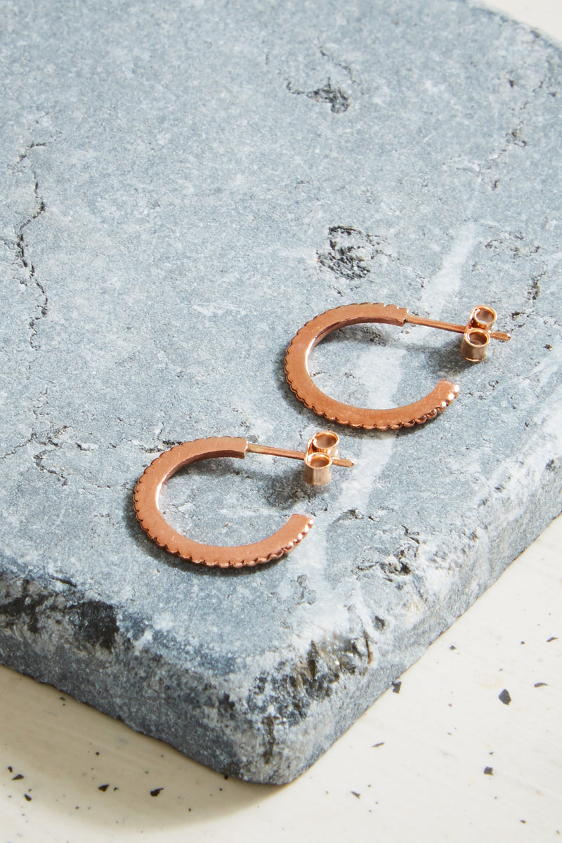 Rose Gold Solar Hoops