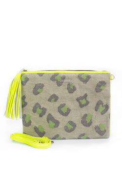 Leopard and Neon Clutch