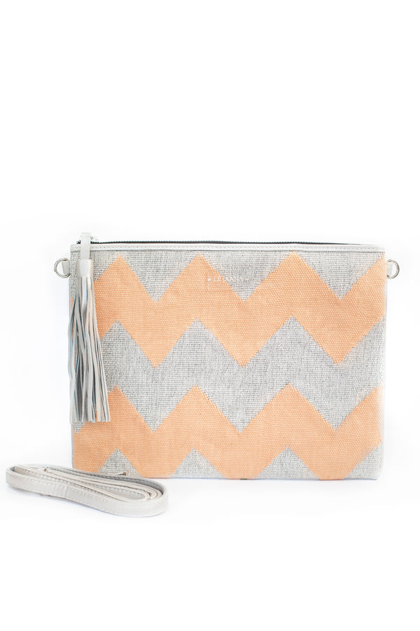 Blush Pink and Silver Clutch