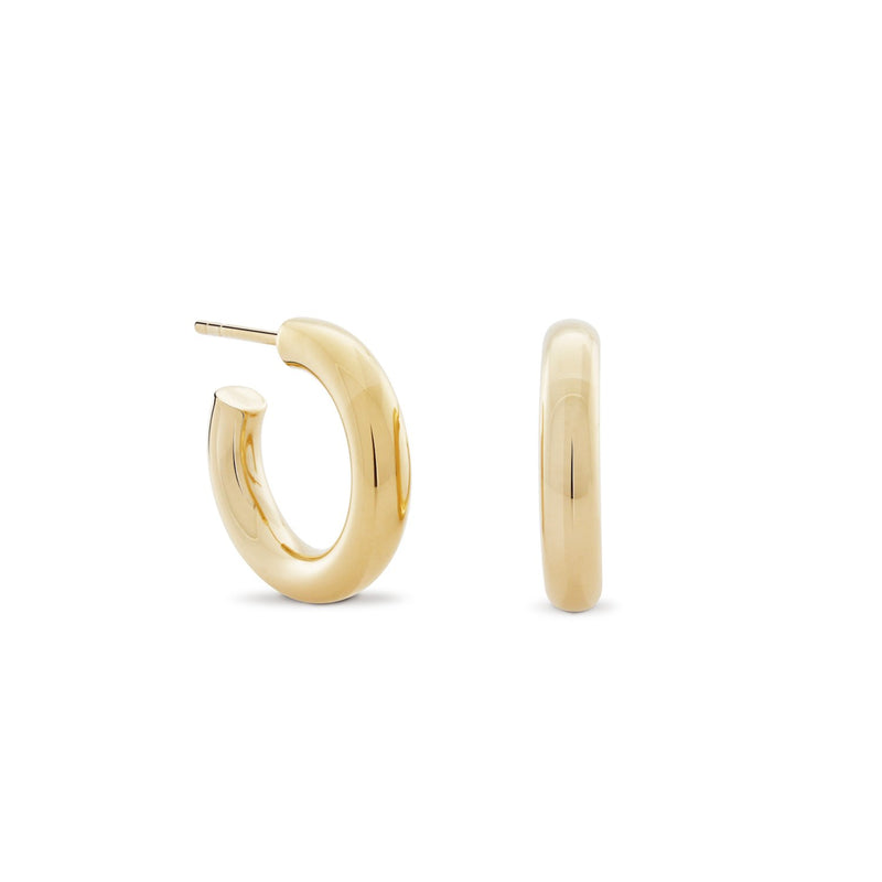 Little Chubbies Hoops. Gold Vermeil.