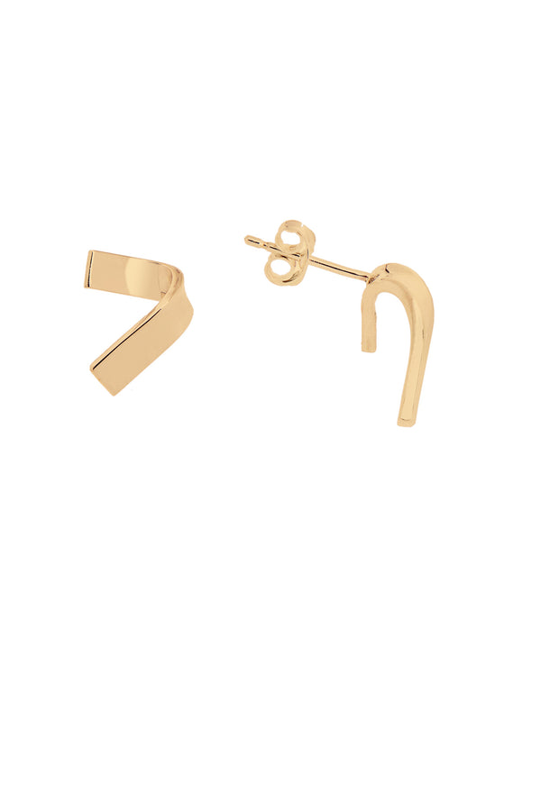LOKA FOLDED STUD EARRING GOLD