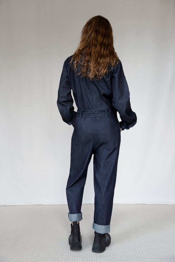 """The Marshes"" Dark Blue Denim Jumpsuit"