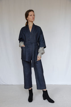 """The Marshes"" Dark Blue Denim Suit"