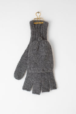 Half Finger Mittens - Grey