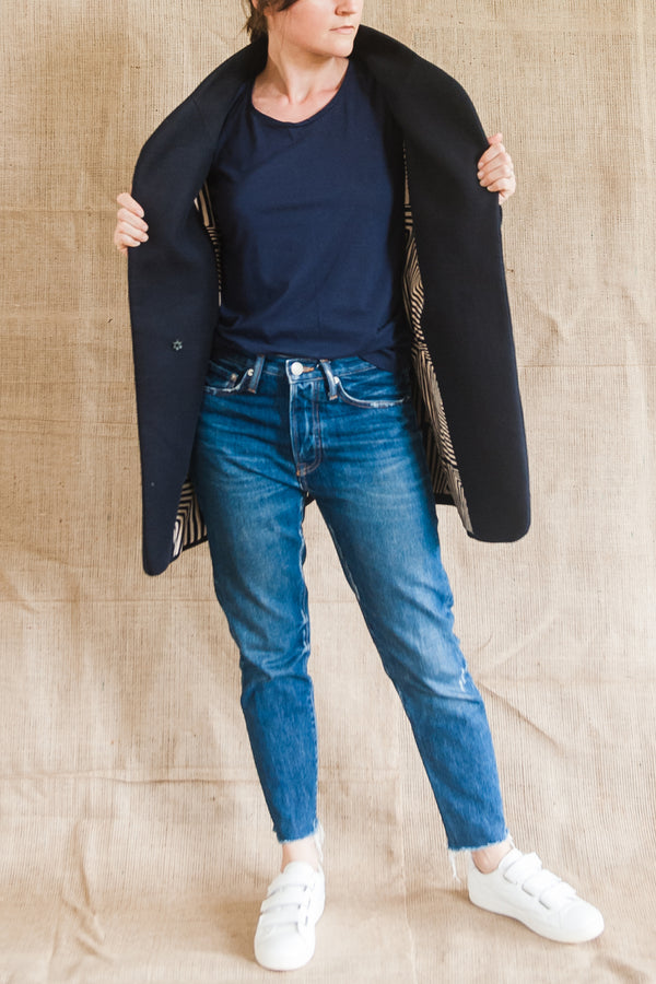 Moyo Navy Coat