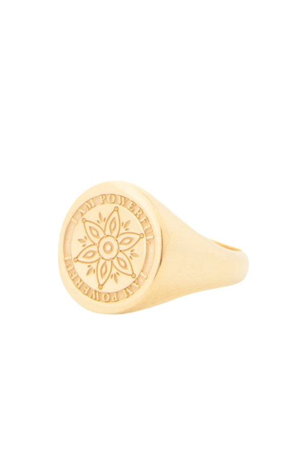 Powerful - Gold Confidence Ring
