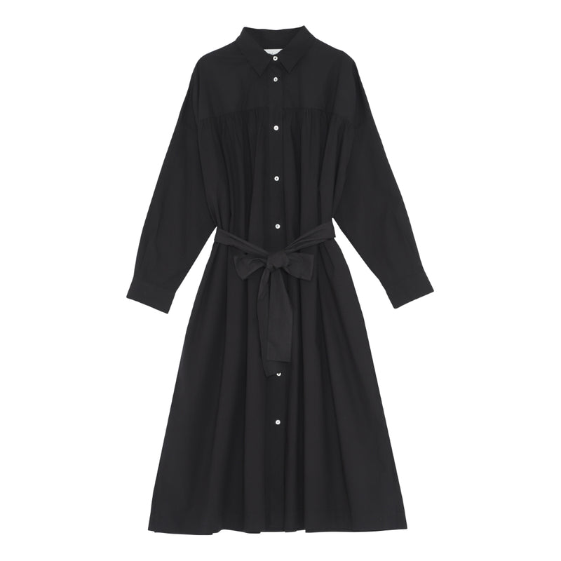 Poppy Shirtdress - Black