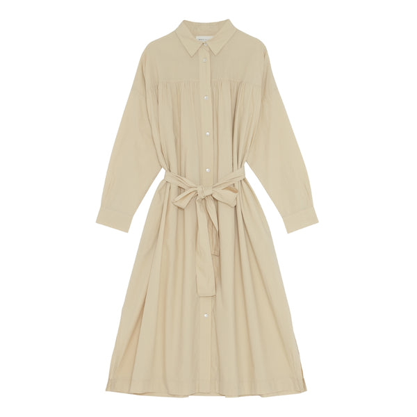 Poppy Shirtdress - Warm Beige