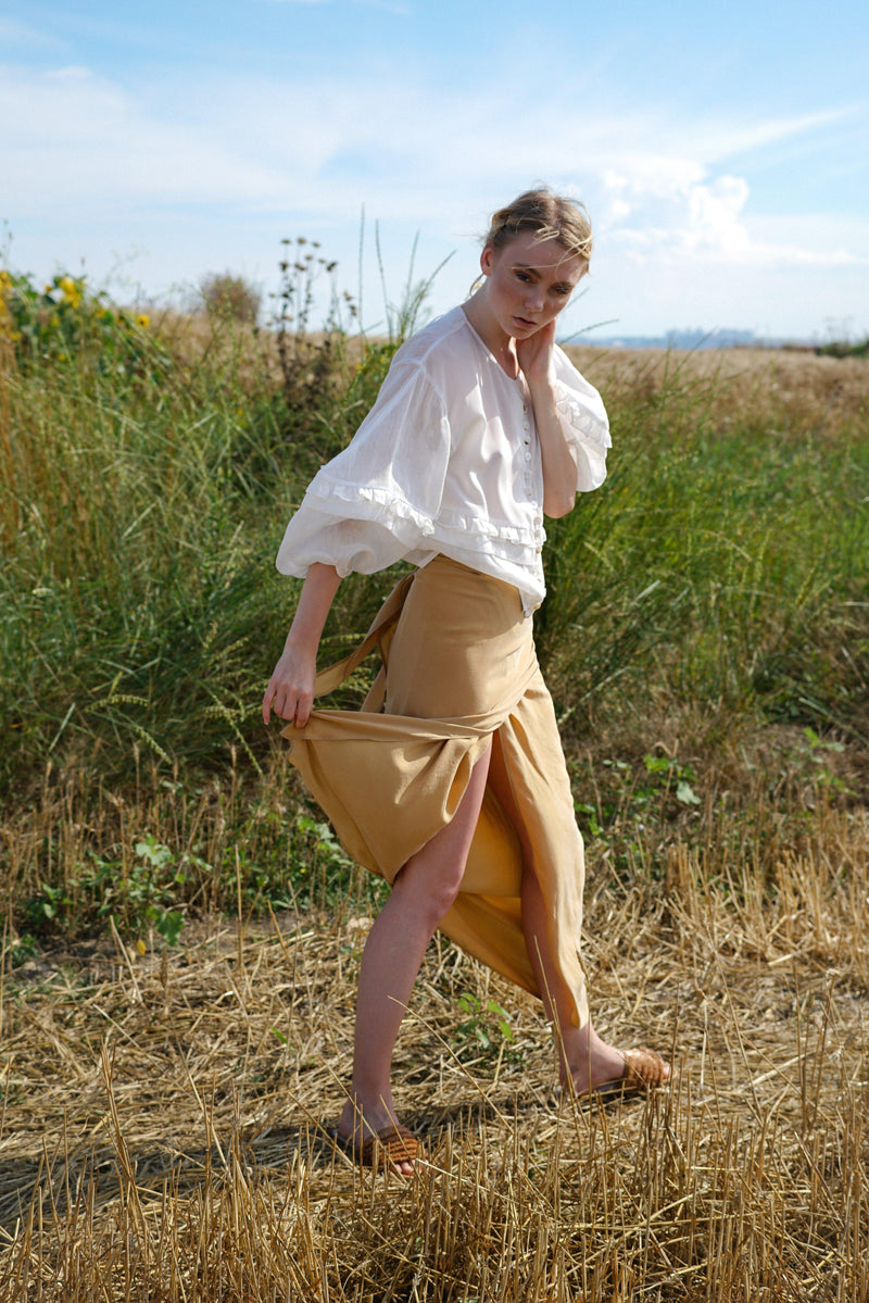 Wrap Beige Skirt
