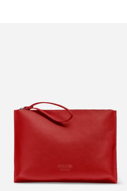 HOXTON CLUTCH - CORAL RED