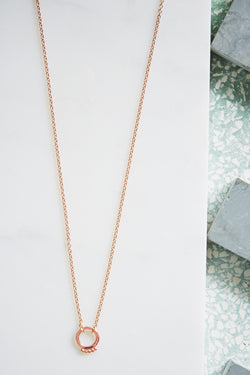 Solar Necklace - Rose Gold