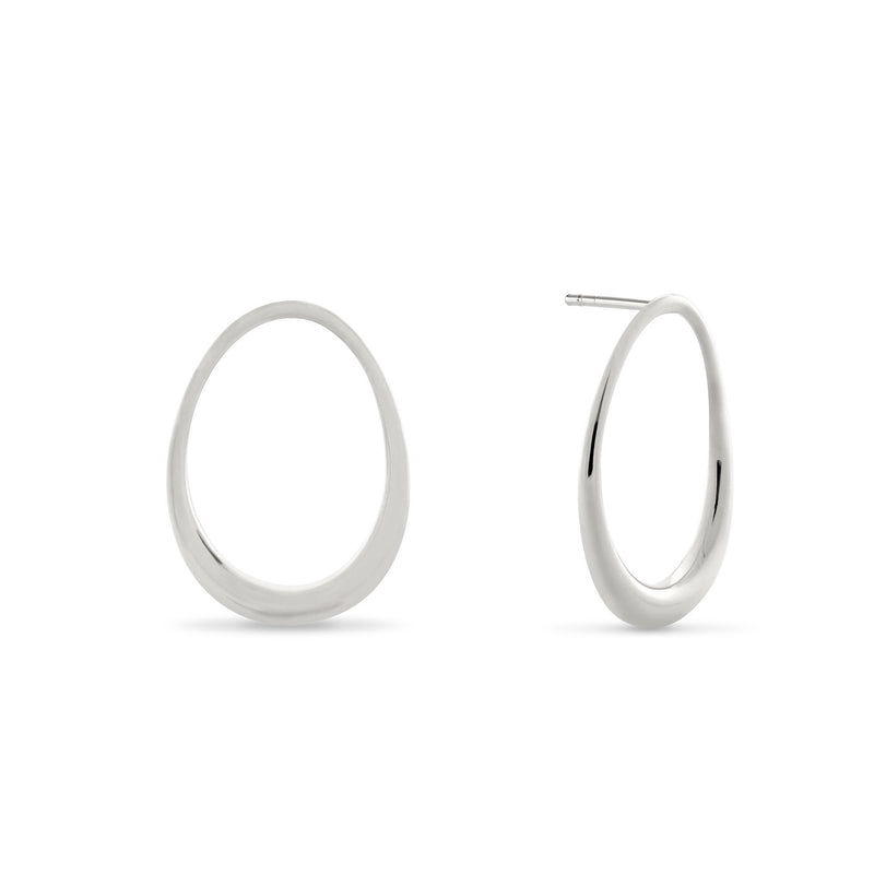 L'Ovale Earrings. Sterling Silver.