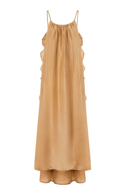 Syros Silk Dress - Palm