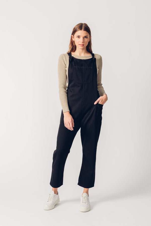 ORGANIC DUNGAREES - Relaxed Fit - Black