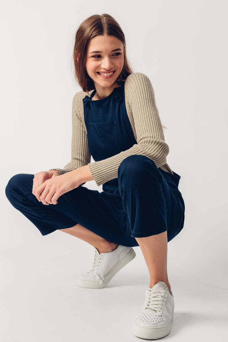 ORGANIC DUNGAREES - Relaxed Fit - Navy