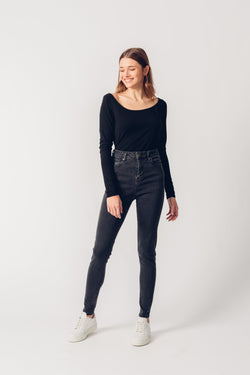CARRIE - High Waist Super Skinny Organic Jeans - Rinse