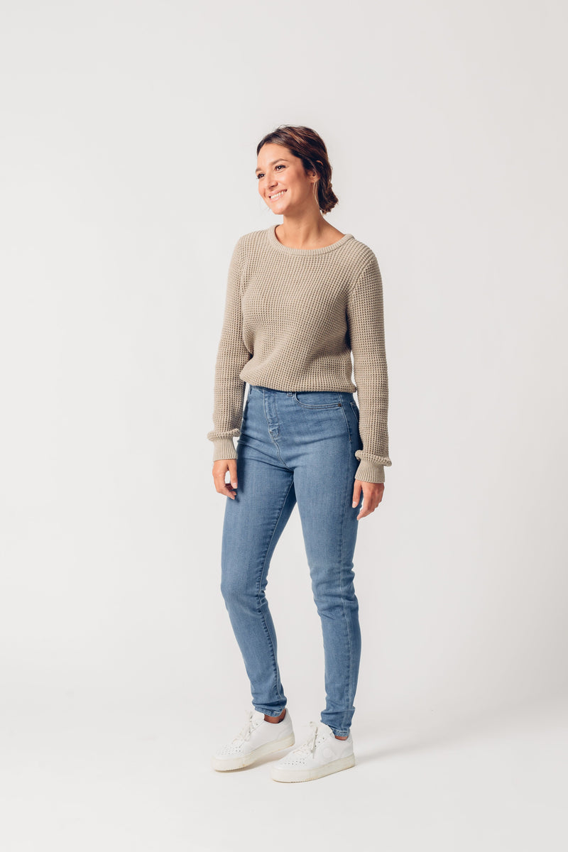 CARRIE - High Waist Super Skinny Organic Jeans - Mid