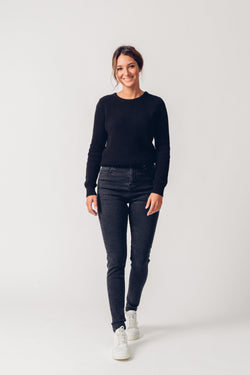 CARRIE - High Waist Super Skinny Organic Jeans - Dark Grey