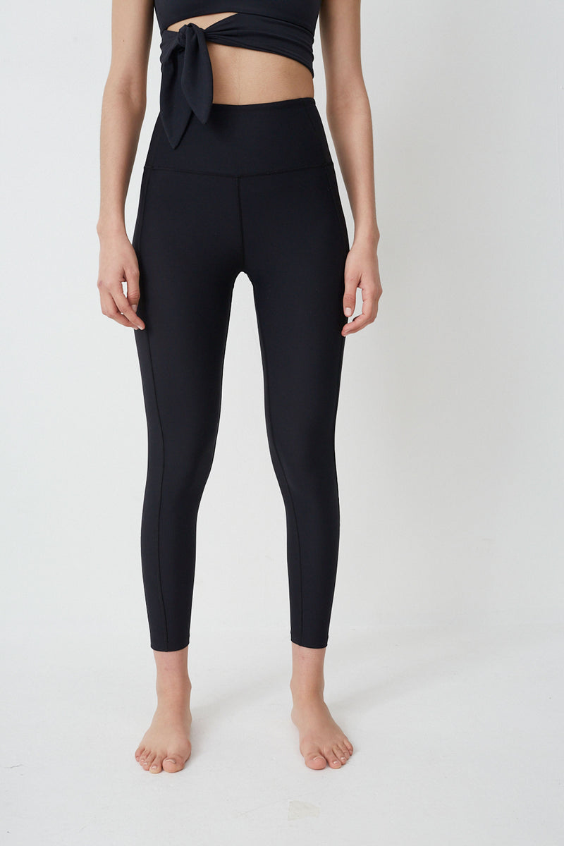 High Waist legging in Black 7/8