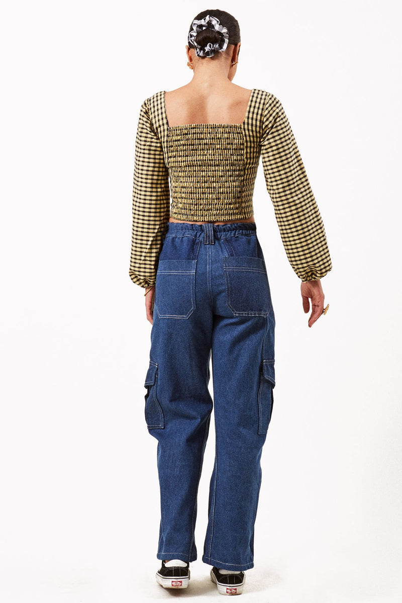 Repurposed Denim Cargo Trouser