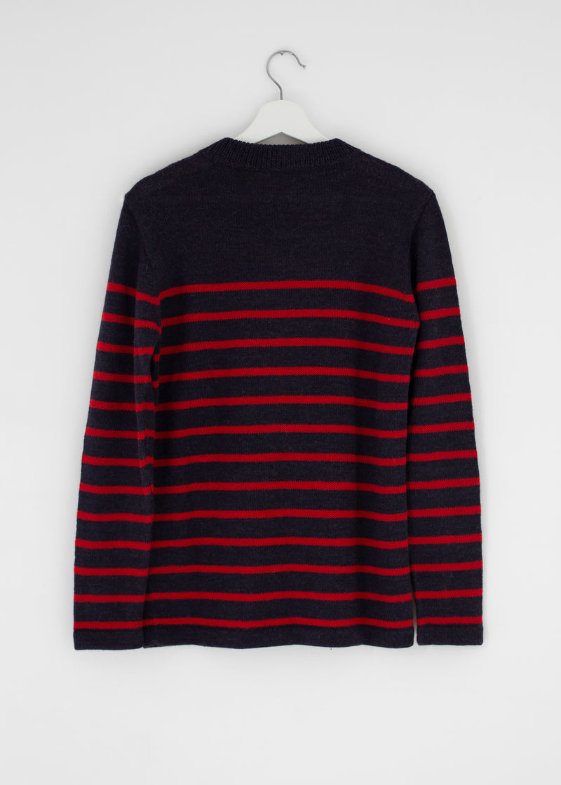 Fisherman's Jumper Dark Blue and Red