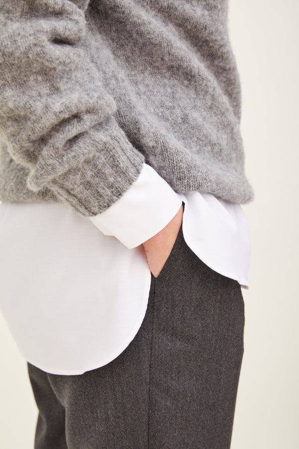 Brushed Wool Crew Neck Sweater